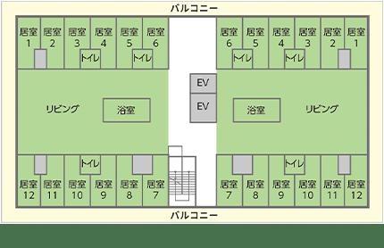 2・3・4階見取り図